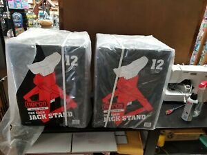 Norco 81012 Heavy Duty 12 Ton Capacity Jack Stand Lot Of 2