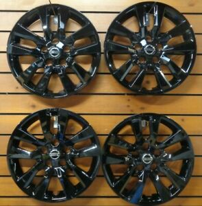 New Set Fits 2013 2018 Nissan Altima 16 Wheel Covers Hubcaps 53088 Black