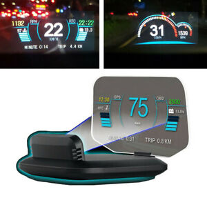 Car Gps Hud Head Up Display Projector Obd2 Usb Speed Ppm For Any Car Dashboard