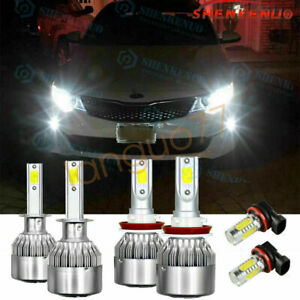 For 2015 Ford Focus 6000k Led Headlights High low Beam Fog Light Combo 4x Bulbs