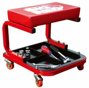 Torin Big Red Rolling Creeper Garage Shop Seat Padded Mechanic Stool Tool Tray