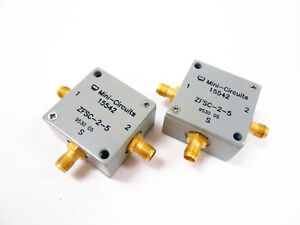 2x Mini circuits Zfsc 2 5 Power Splitter Ghz Rf Microwave Frequency