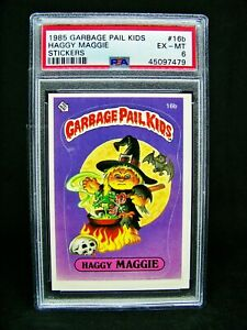 GARBAGE PAIL KIDS 1985 1st Series #16b Haggy Maggie MATTE OS1 Graded PSA 6 EXMT $29.95