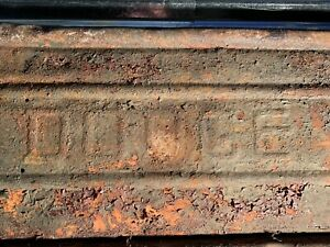 Vintage Dodge Tailgate Truck Pick Up Power Wagon Man Cave Wall Art Bench Cool