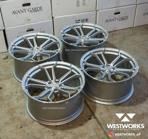20 X 10 Avant Garde M610 Wheel Set Audi A4 A5 A6 Rotary Forged 5x112 Sale