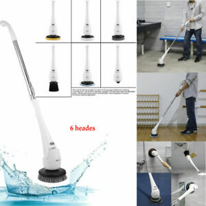 6x Electric Spin Shower Scrubber Cordless Bathroom Tub Tile Floor Cleaning Tool