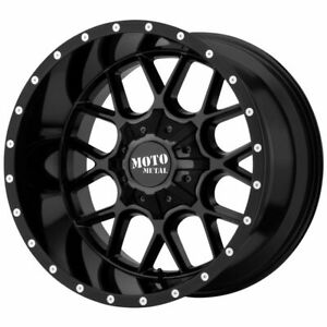 22x10 Gloss Black Wheels Moto Metal Mo986 Siege 8x170 12 set Of 4