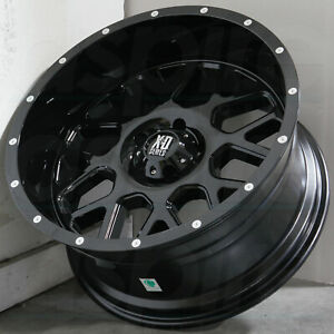 17x8 5 Gloss Black Wheels Xd Xd820 Grenade 5x114 3 0 set Of 4