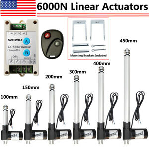 Electric 6000n 1320lbs Lift Heavy Duty Dc12v Linear Actuator W Motor Controller