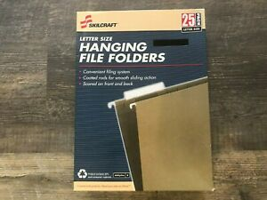 Skilcraft Hanging File Folders Letter Size 25 box Green New
