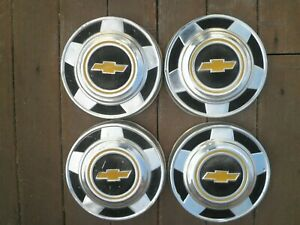 Set Of 4 Vintage Chevy 1 2 Ton Chevy Pickup Truck 10 3 4 Dog Dish Hubcaps