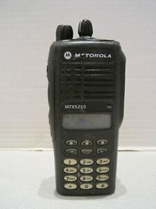 Motorola Mtx9250 900mhz Aah25wch4gb6an Police Fire Ems Two Way Radio As is