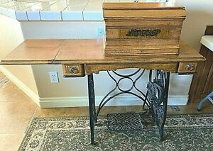 Household Sewing Machine Prov Tool Co Vintage 1882 1903 Antique With Manual