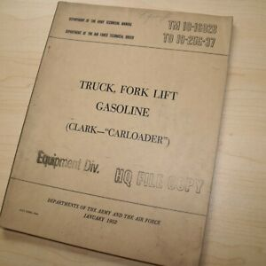Clark Carloader Forklift Owner Operator Service Repair Shop Maintenance Manual