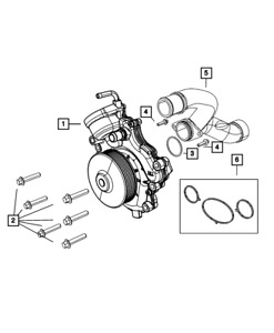 Genuine Mopar Water Pump 68211202ab