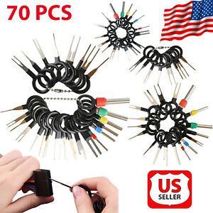 70pcs Car Wire Terminal Removal Tool Kit Wiring Connector Pin Extractor Puller