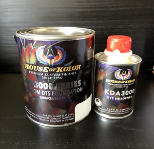 House Of Kolor Primer Surfacer sealer Quart Kit White W Hardener Included