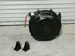 Reelcraft Retractable Composite Hose Reel 50 Ft X 3 8 In 230 Psi Sga3650 Olp