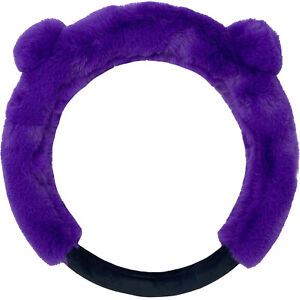 New Furry Bear Style Purple Steering Wheel Cover Truck car 14 5 15 5