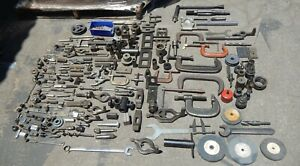 Lot Of Vintage Machinist Tools And or Lathe Accessories