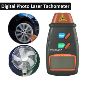 Lcd Digital Tachometer Laser Photo Non Contact Rpm Tach Meter Motor Speed Tester