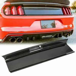 For 15 18 Ford Mustang Gt Carbon Fiber Color Rear Trunk Panel Decklid Trim Cover Fits Mustang