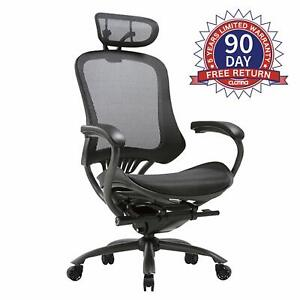 Clatina Mesh Swivel Home Office Executive Chair With Adjustable Height Head Rest