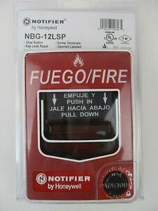 Notifier Nbg 12lsp Spanish Dual Action Pull Station With Key Lock