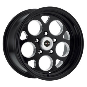 Vision Sport Mag 15x10 5x120 65 Et 25 Gloss Black With Milled Windows qty Of 4