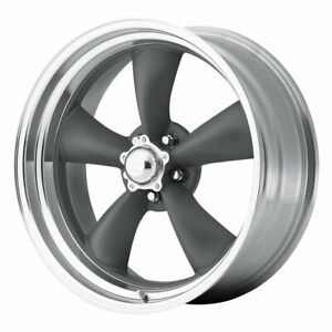 American Racing Vn215 Torqthrust Ii 17x7 5x127 Et0 Mag Gray machined qty Of 4