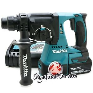 New Makita Xrh01z 1 18v Lxt Sds Plus Brushless Rotary Hammer Drill 5 0 Ah Kit