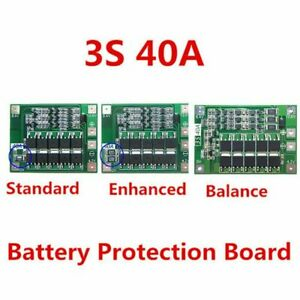12 6v 18650 Lithium Battery Pcb Bms Protection Board 40a For Drill Motor 3s E3n3