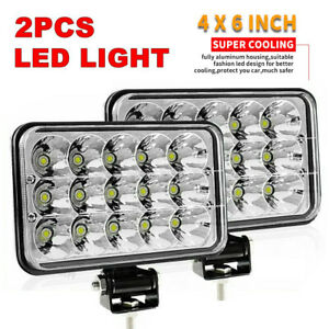 4x6inch Led Work Lights Spot Driving Fog Headlights For Car Suv Truck Tractor