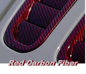 19x383 Water Transfer Printing Hydrographic Film Red Carbon Fiber Us Quality