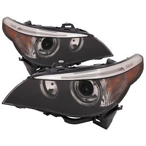 Headlights Set Hid W perf Lens Fits 04 07 E60 Bmw 5 Series Sedan 525i 530i