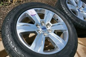 15 20 Ford F 150 4x4 20 Polished Aluminum Oem Wheel Rim And Tire
