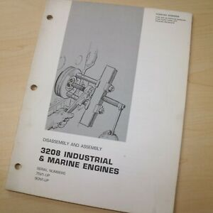 Caterpillar 3208 Diesel Engine Disassembly Assembly Service Manual Shop Repair
