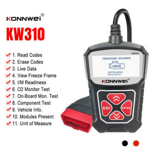 Car Diagnostic Scanner Obd2 Obdii Fault Code Reader Erase Engine Check Tester