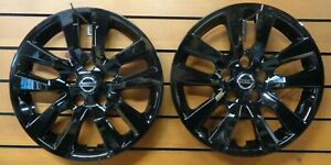 New Pair Of 2 Fits 2013 2018 Nissan Altima 16 Wheel Covers Hubcaps 53088 Black