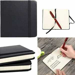 Small Pocket Notebook 3 5 X 5 5 Hardcover Lined Paper Mini Notepad W Black Lea