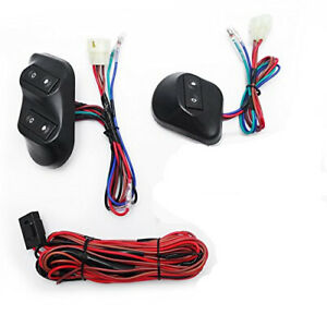 Universal 12v 24v 2 Door Car Window Control Switch Kit Power Holder Wire Harness