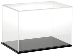 Plymor Clear Acrylic Display Case With Black Base 12 W X 8 D X 8 H