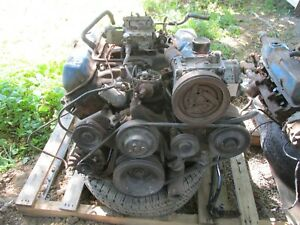 Ford 428 Fe Engine 428 Motor With Transmission 7 Litre Galaxie Mustang Cobra Cj