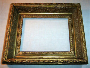 1800 S Antique Deep Frame For 7 X 9 Picture Photograph 19th Century Gold Gilt