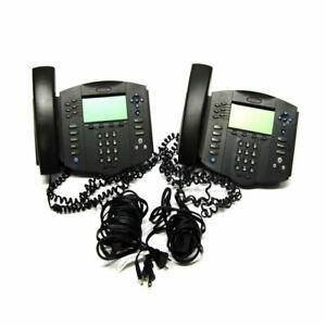 lot Of 2 Polycom 2201 11601 001 Soundpoint Ip 601 Sip Volp Phones Stand