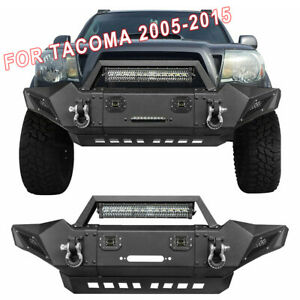 Front Bumper With Led Lights D rings For Toyota Tacoma 2005 2015 Offroad Guard