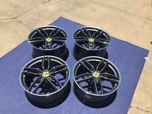 Ferrari 488 20 Oem Sport Wheel Set Diamond Cut