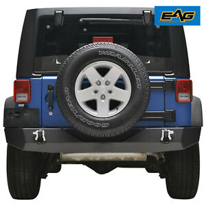 Eag Full Width Rear Bumper Offroad With D rings Fit For 07 18 Jeep Wrangler Jk