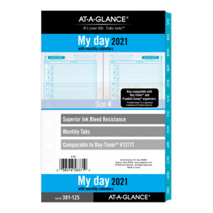 At a glance Seascapes Daily monthly Planner Refill 5 1 2 X 8 1 2 381 125 21