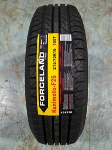 215 70r16 Forceland Kunimoto F26 100t Set Of 4